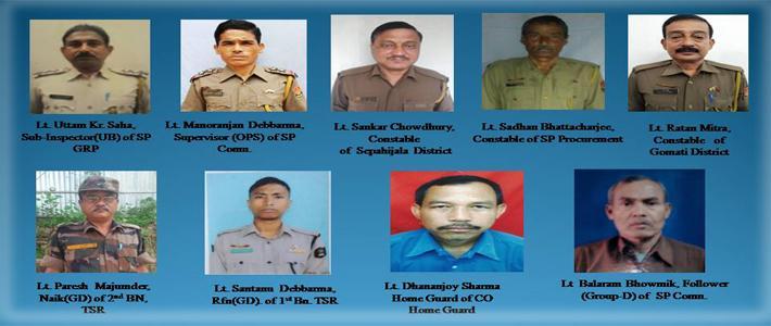 COVID MARTYRS OF TRIPURA POLICE